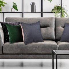 Poszewka pikowana wzór geometryczny zielono-srebrna 40x40cm - 40 X 40 cm - jasnoszary/zielony 8
