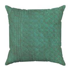 Poszewka pikowana wzór geometryczny zielono-srebrna 40x40cm - 40 X 40 cm - jasnoszary/zielony 5