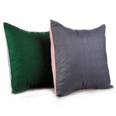 Poszewka pikowana wzór geometryczny zielono-srebrna 40x40cm - 40 X 40 cm - jasnoszary/zielony 3