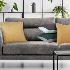 Poszewka na poduszkę dwustronna pikowana szaro-zielona 40 x 40 cm  - 40 X 40 cm - zielony/jasnoszary 9