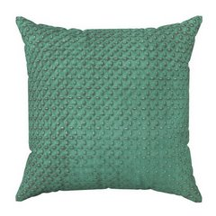 Poszewka na poduszkę dwustronna pikowana szaro-zielona 40 x 40 cm  - 40x40 - zielony / szary 1
