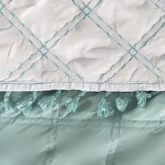 Narzuta na łóżko przeszywana dwustronna 170x210 cm miętowo-srebrna - 170 X 210 cm - miętowy 6