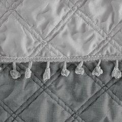 Narzuta na łóżko przeszywana dwustronna 170x210 cm stalowo-srebrny - 170 X 210 cm - stalowy/srebrny 5