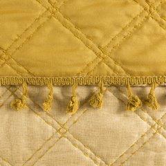Narzuta na łóżko przeszywana dwustronna 170x210 cm żółta - 170 X 210 cm - żółty 5