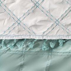 Narzuta na łóżko przeszywana dwustronna 220x240 cm miętowo-srebrny - 220 X 240 cm - miętowy 3