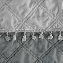 Narzuta na łóżko przeszywana dwustronna 220x240 cm stalowo-srebrny - 220 X 240 cm - stalowy/srebrny 3