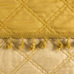 Narzuta na łóżko przeszywana dwustronna 220x240 cm żółta - 220 X 240 cm - żółty 3
