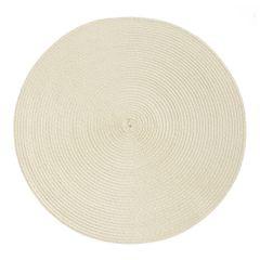 Okrągła podkładka stołowa beżowa średnica 38 cm - ∅ 38 cm - jasnobeżowy 1
