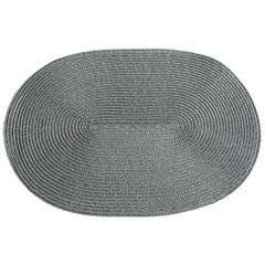 Owalna podkładka stołowa stalowy szary 30x45 cm - 45 X 30 cm - stalowy 1