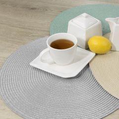 Owalna podkładka stołowa stalowy szary 30x45 cm - 45 X 30 cm - stalowy 3