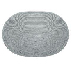Owalna podkładka stołowa popielata 30x45 cm - 45 X 30 cm - szary 1