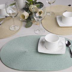 Owalna podkładka stołowa beżowa 30x45 cm - 45 X 30 cm - jasnobeżowy 6