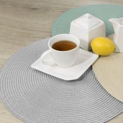Owalna podkładka stołowa beżowa 30x45 cm - 45 X 30 cm - jasnobeżowy 3