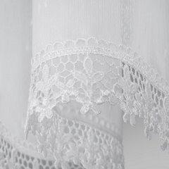 Komplet firan z ozdobną koronką 2 szt. białe taśma 400x65/400x35cm - 400 x 65 , 400 x 35 cm - biały 2