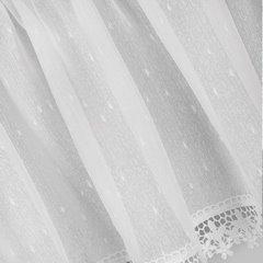 Komplet firan z ozdobną koronką 2 szt. białe taśma 400x65/400x35cm - 400 x 65 , 400 x 35 cm - biały 4