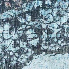 Komplet pościeli bawełnianej 220 x 200, 2 szt. 70 x 80 nadruk przecierany mandala hiszpańska bawełna - 220x200 - niebieski 1
