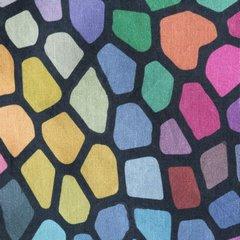 Komplet pościeli z bawełny hiszpańskiej 160 x 200 cm, 2 szt. 70 x 80 mozaikowy wzór hiszpańska bawełna - 160 X 200 cm, 2 szt. 70 X 80 cm - wielokolorowy 3