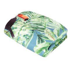Ręcznik plażowy z mikrofibry z kolorowym nadrukiem 80x160cm - 80 X 160 cm - wielokolorowy 1