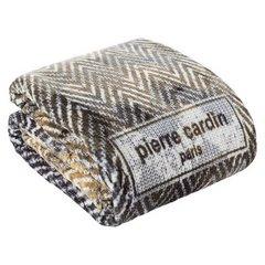Brązowy KOC W ZYGAZAKI Sonia od PIERRE CARDIN 220x240 cm - 220 X 240 cm - brązowy/kremowy/beżowy 3