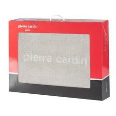 Kawowy WYTŁACZANY KOC MAJA od PIERRE CARDIN 160X240 CM - 160 X 240 cm - szarobeżowy 5