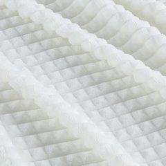 Kremowy KOC Z EFEKTEM 3D z mikroflano 70x160 cm - 70x160 - kremowy 5
