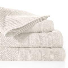 Bawełniany ręcznik kąpielowy frote kremowy 50x90 - 50 X 90 cm - kremowy 2