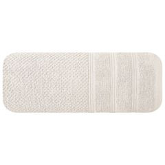 Bawełniany ręcznik kąpielowy frote kremowy 50x90 - 50 X 90 cm - kremowy 3