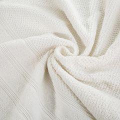 Bawełniany ręcznik kąpielowy frote kremowy 50x90 - 50 X 90 cm - kremowy 7