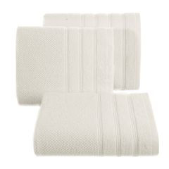 Bawełniany RĘCZNIK kąpielowy frote kremowy 70x140 - 70x140 - kremowy 3