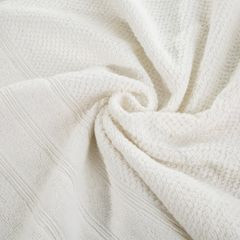 Bawełniany RĘCZNIK kąpielowy frote kremowy 70x140 - 70x140 - kremowy 6