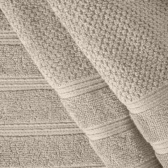 Bawełniany ręcznika kąpielowy frote beżowy 50x90 - 50 X 90 cm - beżowy 5