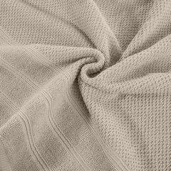 Bawełniany ręcznika kąpielowy frote beżowy 50x90 - 50 X 90 cm - beżowy 6