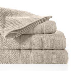 Bawełniany ręcznika kąpielowy frote beżowy 50x90 - 50 X 90 cm - beżowy 2