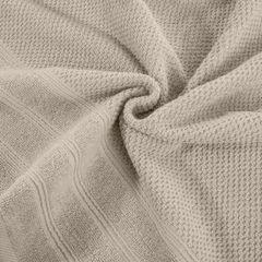 Bawełniany ręcznika kąpielowy frote beżowy 50x90 - 50 X 90 cm - beżowy 3