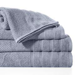 Bawełniany ręcznik kąpielowy frote srebrny 50x90 - 50 X 90 cm - srebrny 2
