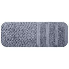 Bawełniany ręcznik kąpielowy frote srebrny 50x90 - 50 X 90 cm - srebrny 3
