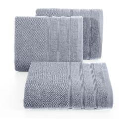 Bawełniany ręcznik kąpielowy frote srebrny 70x140 - 70 X 140 cm - srebrny 1