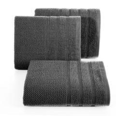 Bawełniany ręcznik kąpielowy stalowy szary 70x140 cm - 70 X 140 cm - stalowy 1