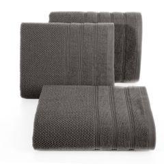 Bawełniany ręcznik kąpielowy frote grafitowy 50x90 - 50 X 90 cm - stalowy 1