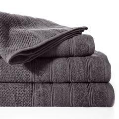 Bawełniany ręcznik kąpielowy frote grafitowy 50x90 - 50 X 90 cm - stalowy 2