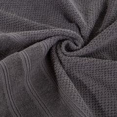 Bawełniany ręcznik kąpielowy frote grafitowy 50x90 - 50 X 90 cm - stalowy 7