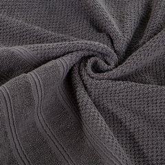 Bawełniany ręcznik kąpielowy frote grafitowy 70x140 - 70 X 140 cm - stalowy 6