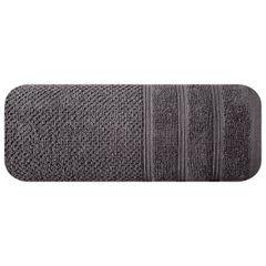 Bawełniany ręcznik kąpielowy frote grafitowy 70x140 - 70 X 140 cm - stalowy 3