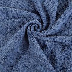 Bawełniany ręcznik kąpielowy frote niebieski 50x90 - 50 X 90 cm - granatowy 6