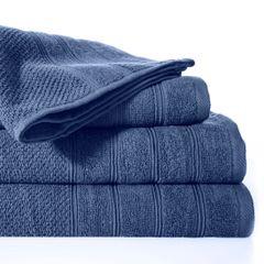 Bawełniany ręcznik kąpielowy frote niebieski 50x90 - 50 X 90 cm - granatowy 2
