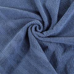 Bawełniany ręcznik kąpielowy frote niebieski 50x90 - 50 X 90 cm - granatowy 3