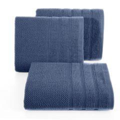Bawełniany ręcznik kąpielowy frote niebieski 70x140 - 70 X 140 cm - granatowy 1