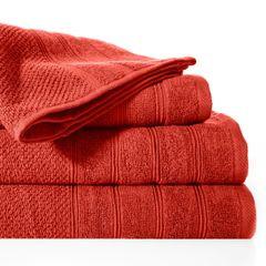 Bawełniany ręcznik kąpielowy frote ceglasty 50x90 - 50 X 90 cm - pomarańczowy 2