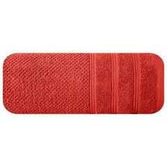 Bawełniany ręcznik kąpielowy frote ceglasty 50x90 - 50 X 90 cm - pomarańczowy 3