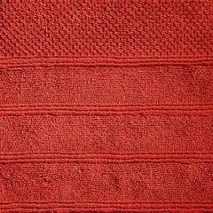Bawełniany ręcznik kąpielowy frote ceglasty 50x90 - 50 X 90 cm - pomarańczowy 5